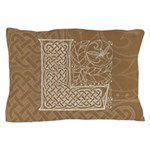 Celtic Letter L Pillow Case