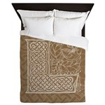 Celtic Letter L Queen Duvet Cover