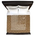 Celtic Letter L King Duvet Cover