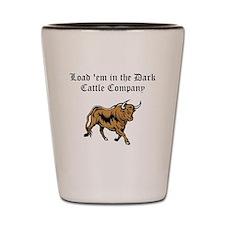 Load em in Dark Cattle Compan Shot Glass