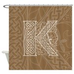 Celtic Letter K Shower Curtain