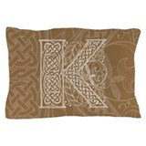 Celtic Letter K Pillow Case