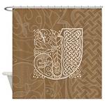 Celtic Letter J Shower Curtain