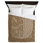 Celtic Letter J Queen Duvet Cover