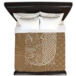 Celtic Letter J King Duvet Cover