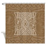 Celtic Letter I Shower Curtain