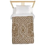 Celtic Letter I Twin Duvet Cover