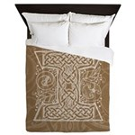 Celtic Letter I Queen Duvet Cover