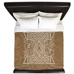 Celtic Letter I King Duvet Cover