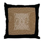 Celtic Letter I Throw Pillow
