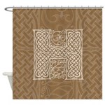 Celtic Letter H Shower Curtain