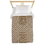 Celtic Letter H Twin Duvet Cover