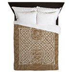 Celtic Letter H Queen Duvet Cover