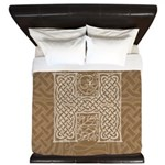 Celtic Letter H King Duvet Cover