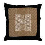 Celtic Letter H Throw Pillow