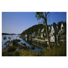 Buildings at the waterfront, Stonington, Maine