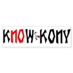 Know Kony Bumper Sticker