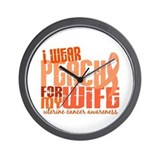 I Wear Peach 6.4 Uterine Cancer Wall Clock