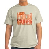 I Wear Peach 6.4 Uterine Cancer T-Shirt