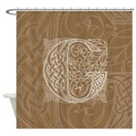 Celtic Letter G Shower Curtain