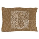 Celtic Letter G Pillow Case