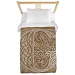 Celtic Letter G Twin Duvet Cover