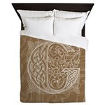 Celtic Letter G Queen Duvet Cover