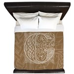 Celtic Letter G King Duvet Cover