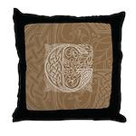 Celtic Letter G Throw Pillow