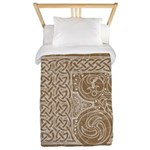 Celtic Letter F Twin Duvet Cover