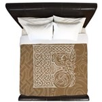 Celtic Letter F King Duvet Cover