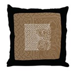 Celtic Letter F Throw Pillow