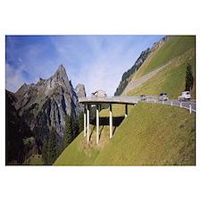 Bridge On Mountains, Mountain Pass, Austria