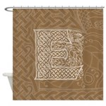 Celtic Letter E Shower Curtain