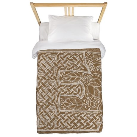 Celtic Letter E Twin Duvet Cover