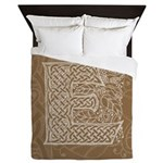 Celtic Letter E Queen Duvet Cover