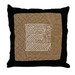 Celtic Letter E Throw Pillow
