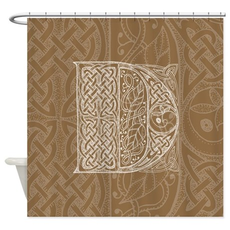 Celtic Letter D Shower Curtain
