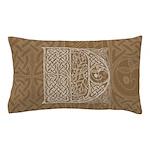 Celtic Letter D Pillow Case