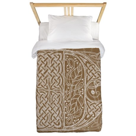 Celtic Letter D Twin Duvet Cover