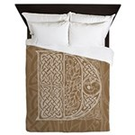 Celtic Letter D Queen Duvet Cover