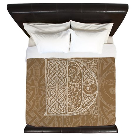 Celtic Letter D King Duvet Cover