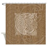 Celtic Letter C Shower Curtain