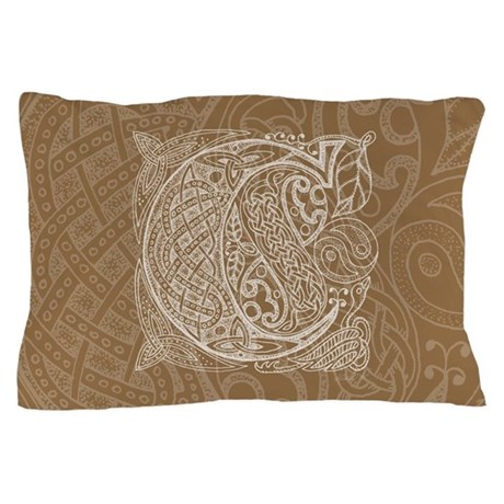 Celtic Letter C Pillow Case
