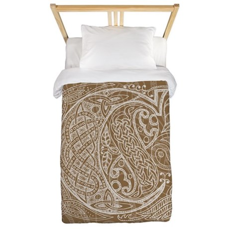 Celtic Letter C Twin Duvet Cover