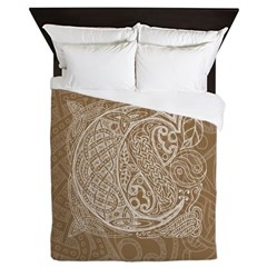 Celtic Letter C Queen Duvet Cover