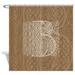 Celtic Letter B Shower Curtain