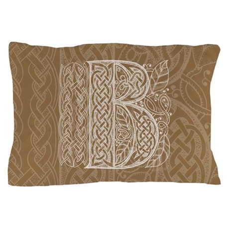 Celtic Letter B Pillow Case