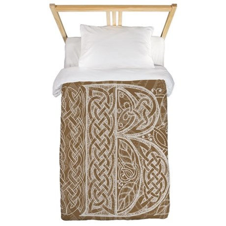Celtic Letter B Twin Duvet Cover