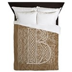 Celtic Letter B Queen Duvet Cover